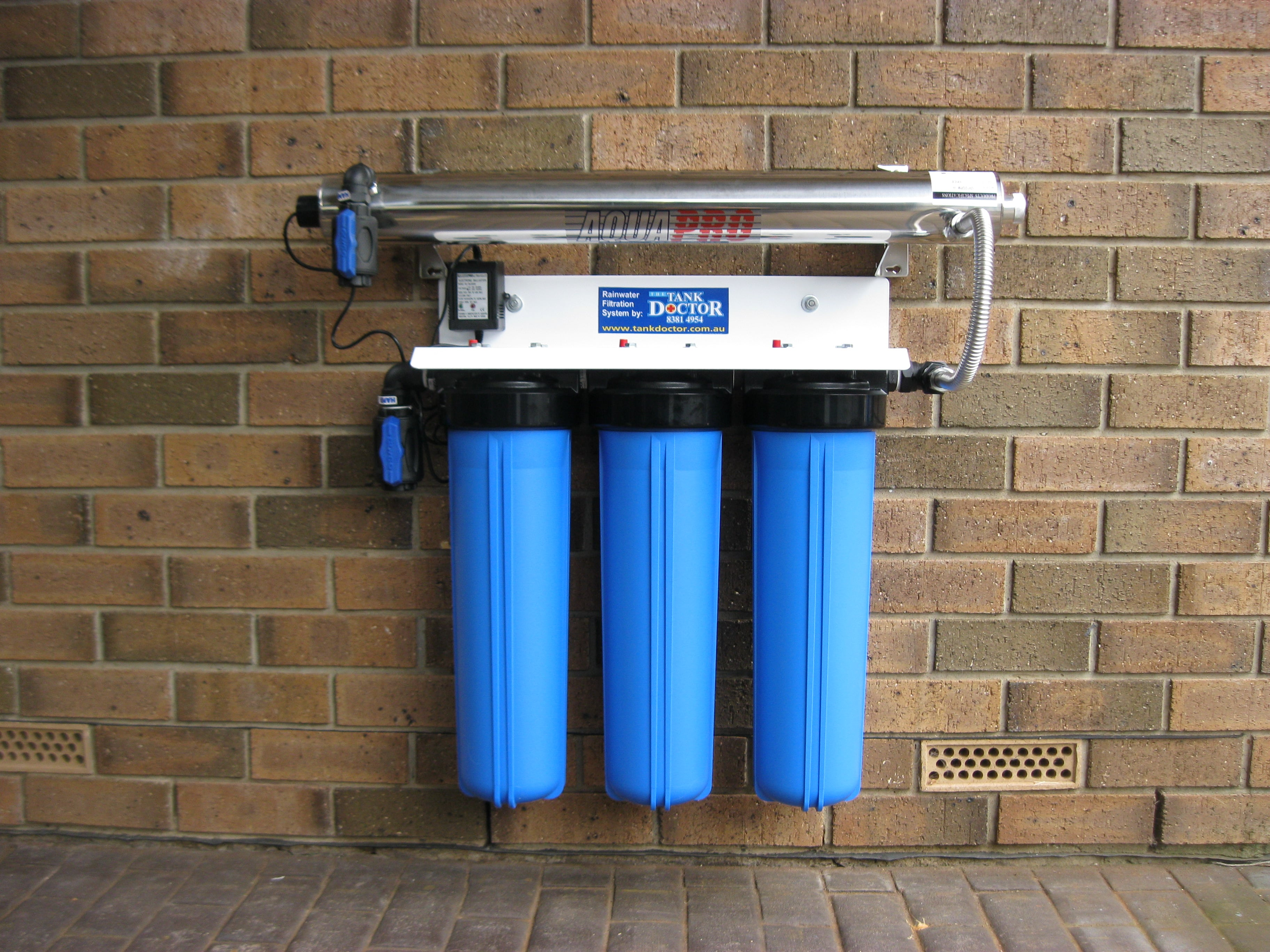 Whole House Filtration Systems Whole House Triple Cartridge Rainwater Filtration System With Aqua