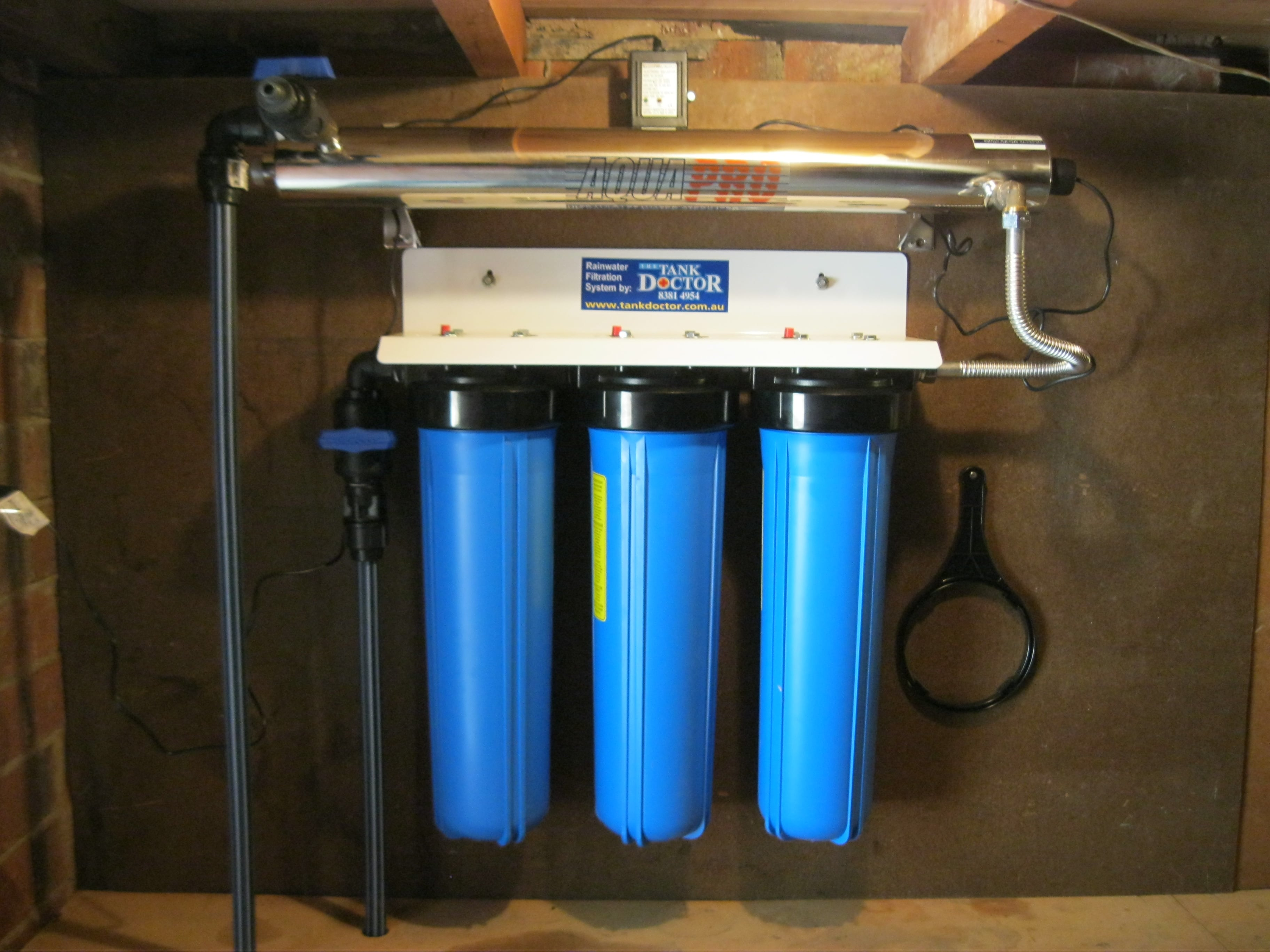 Whole House Filtration Systems Whole House Triple Cartridge Rainwater Filtration System The