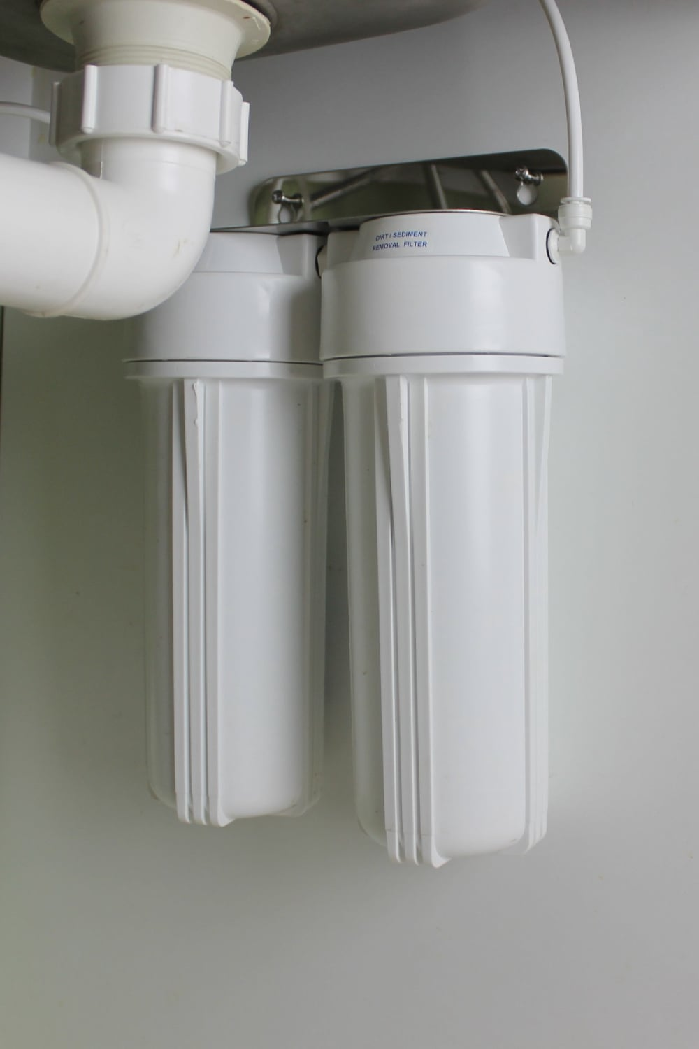 Under Sink Filter Systems Under Sink Twin Cartridge Water Filter System The Tank Doctor