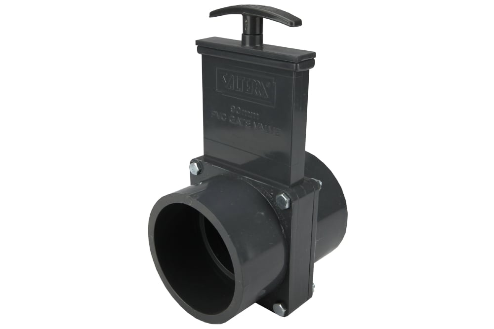Best Water Filtration System >> PVC Gate Valve 90mm (Wet System Flushing) | The Tank Doctor