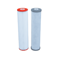 Twin 20 x 4.5 Filters 10 pleated, 5 silver carbon