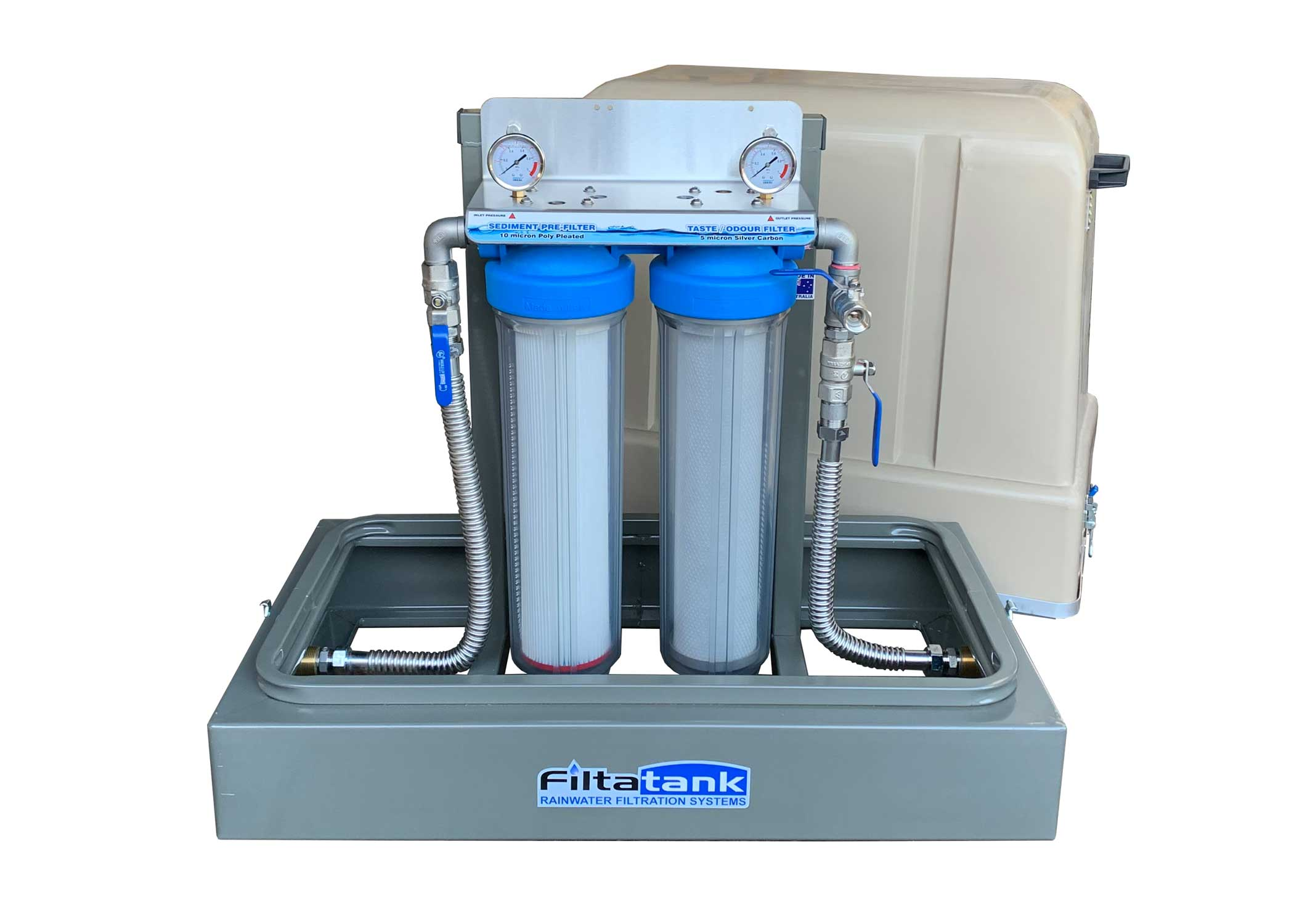 Twin Cartridge 'Free-Standing' Rainwater Filtration System