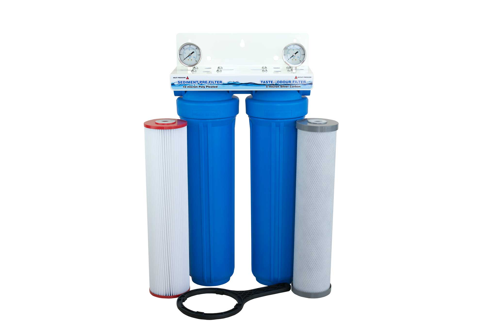 whole house water filter cartridge. Twin Cartridge 20\u2033 X 4.5\u2033 Whole House Rainwater Filtration System Water Filter